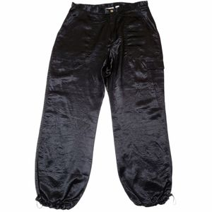 Chicos Vintage Crinkle Satin Joggers Size 3/XL